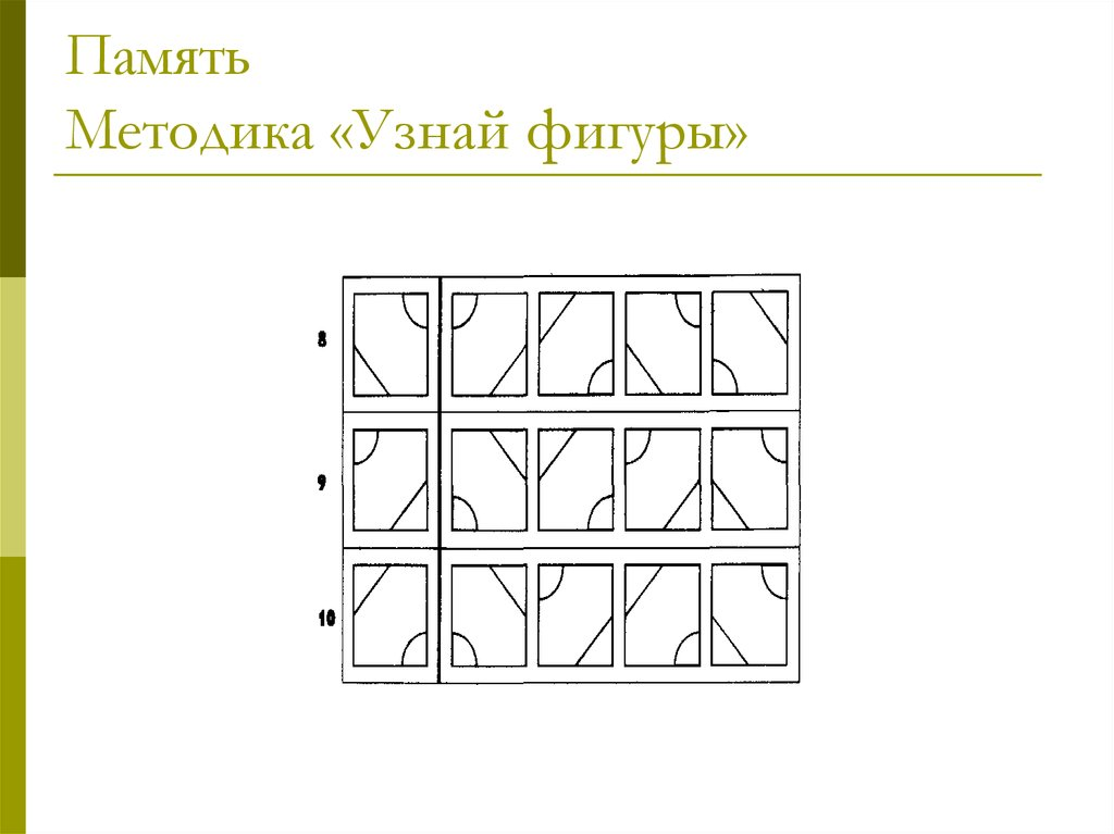 Методика узнай фигуры картинки