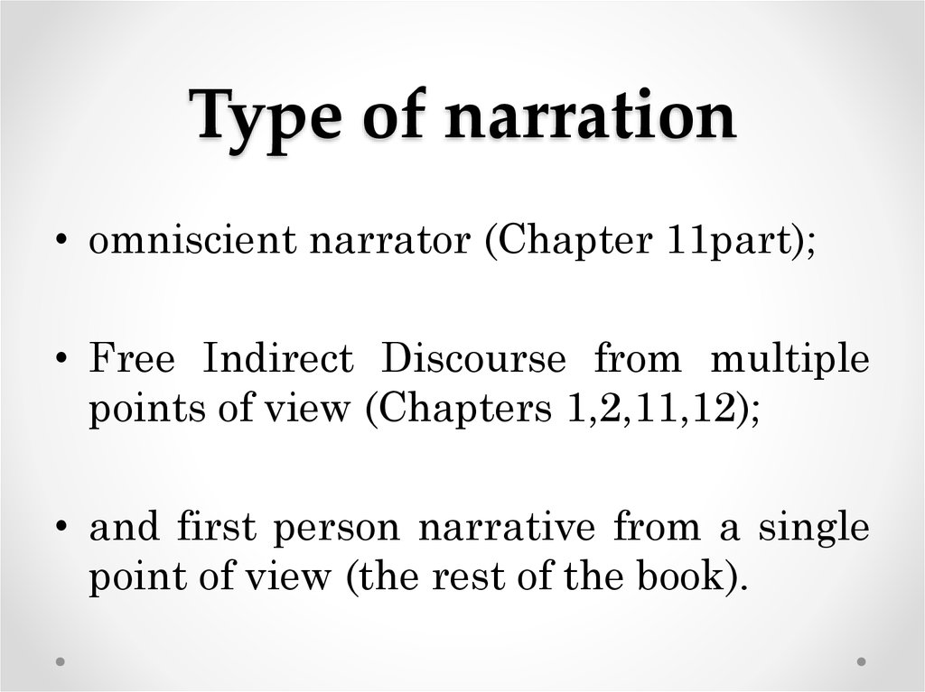 Type of narration