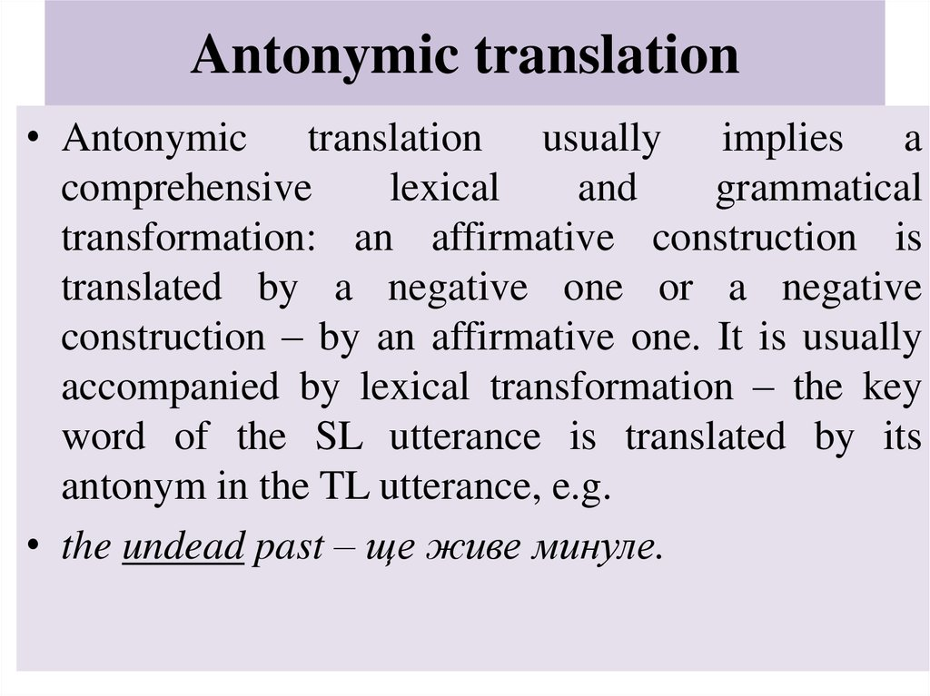Antonymic translation