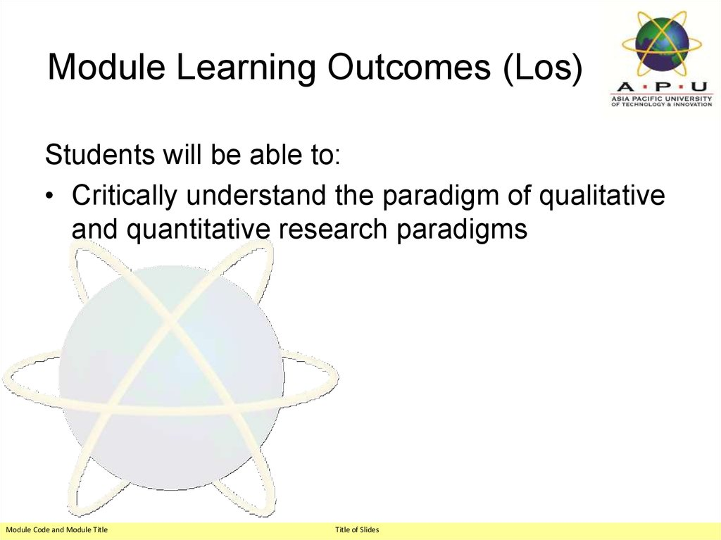 Module Learning Outcomes (Los)