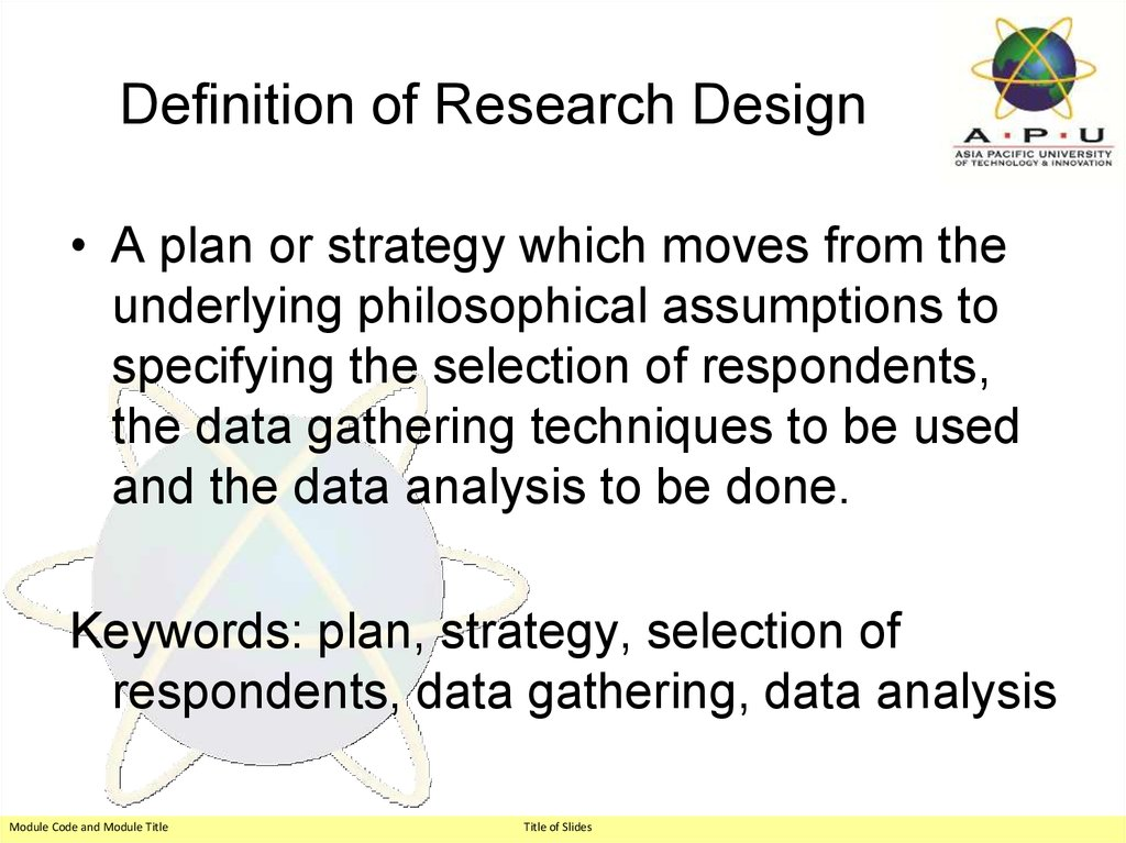 Definition of Research Design