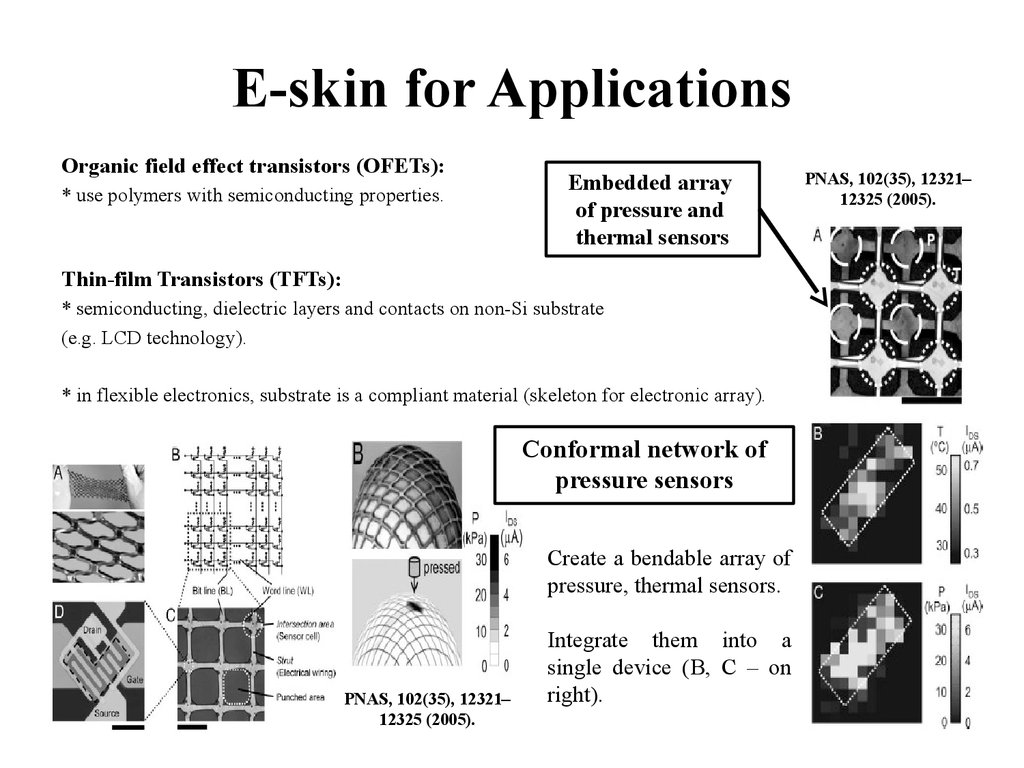 E-skin for Applications