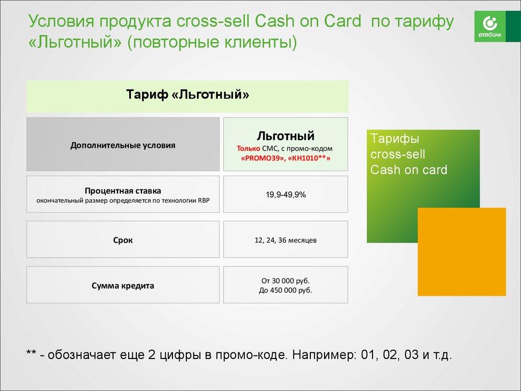 отп понятная кредитная карта
