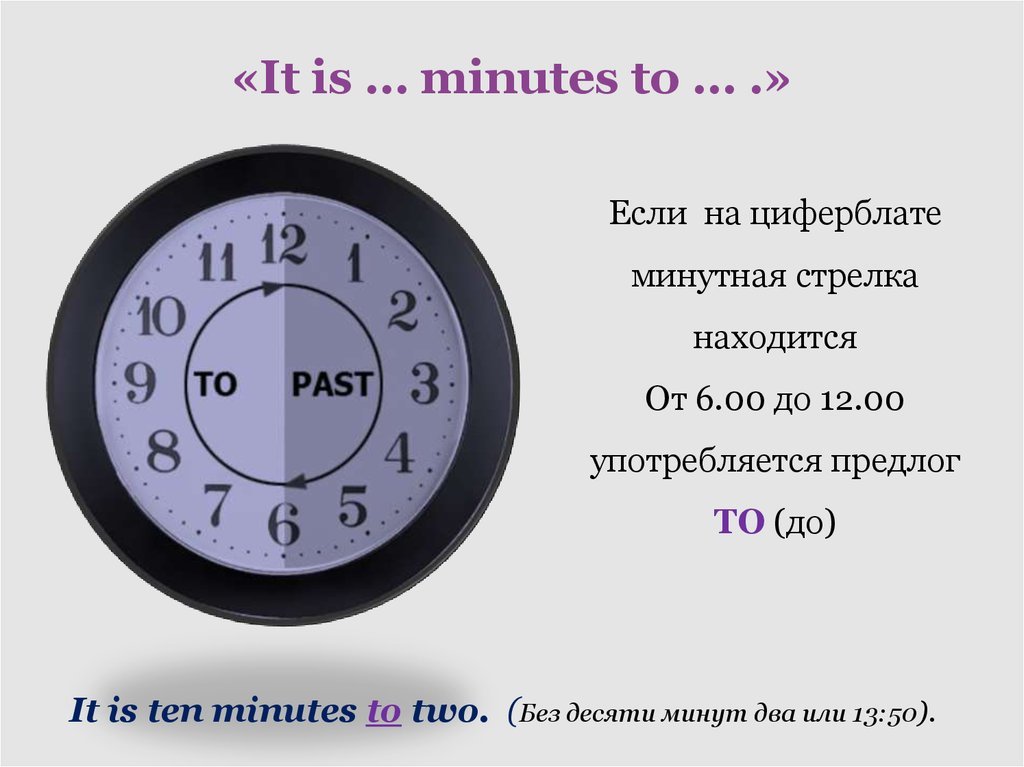 «It is … minutes to … .»