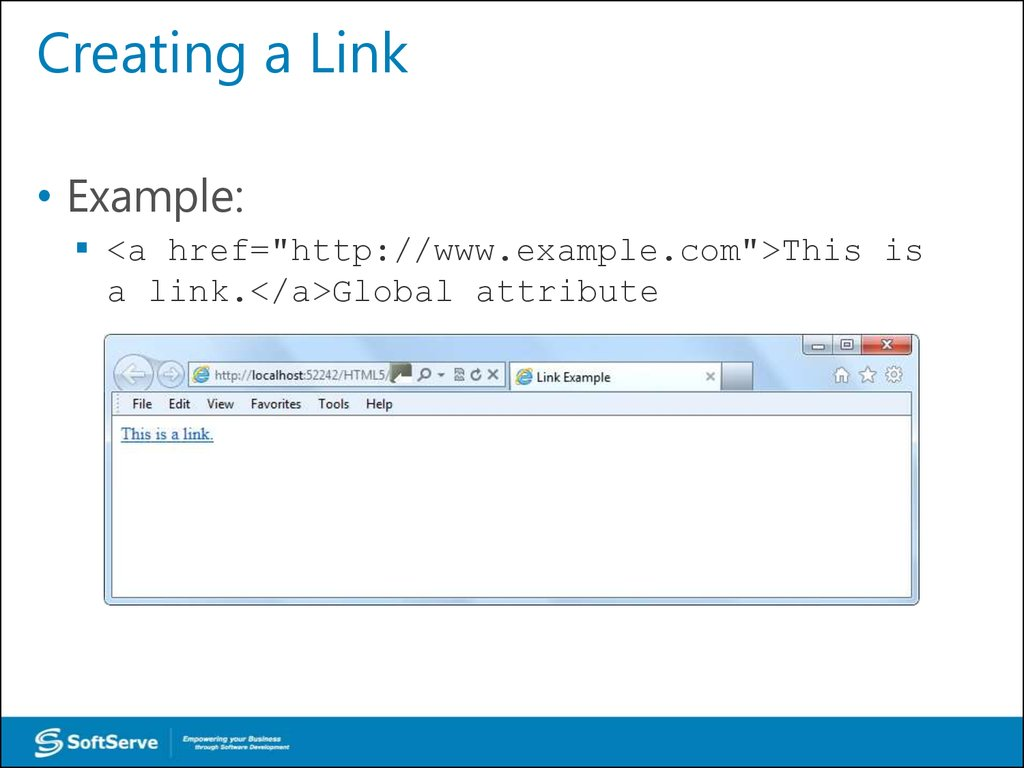Creating a Link