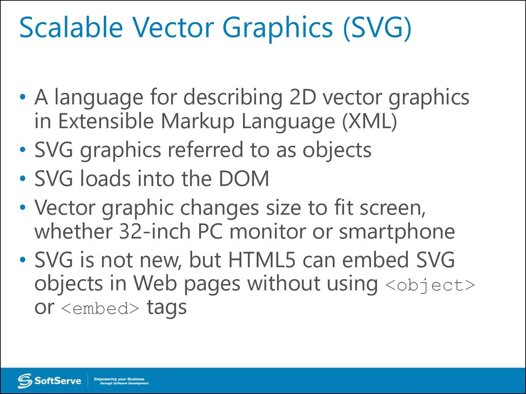 Scalable Vector Graphics (SVG)
