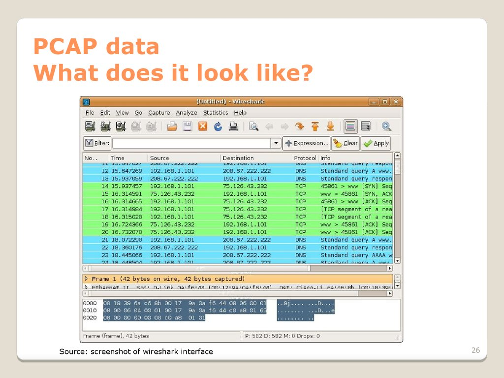PCAP data What does it look like?