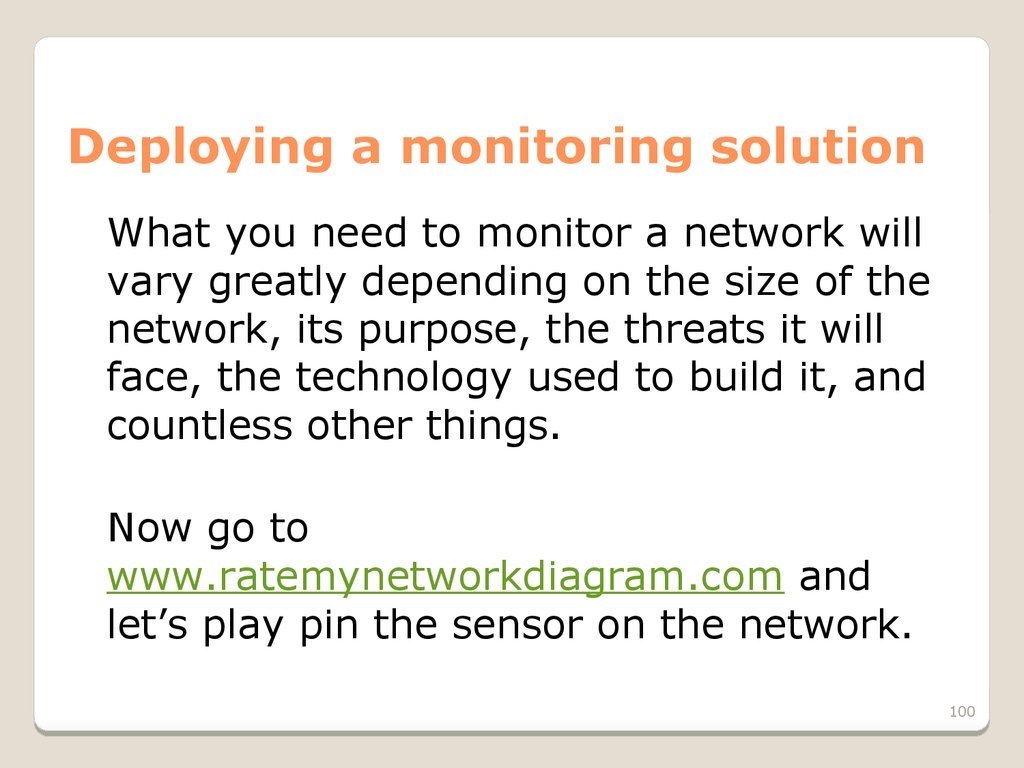 Deploying a monitoring solution