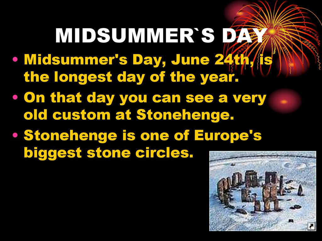 MIDSUMMER`S DAY