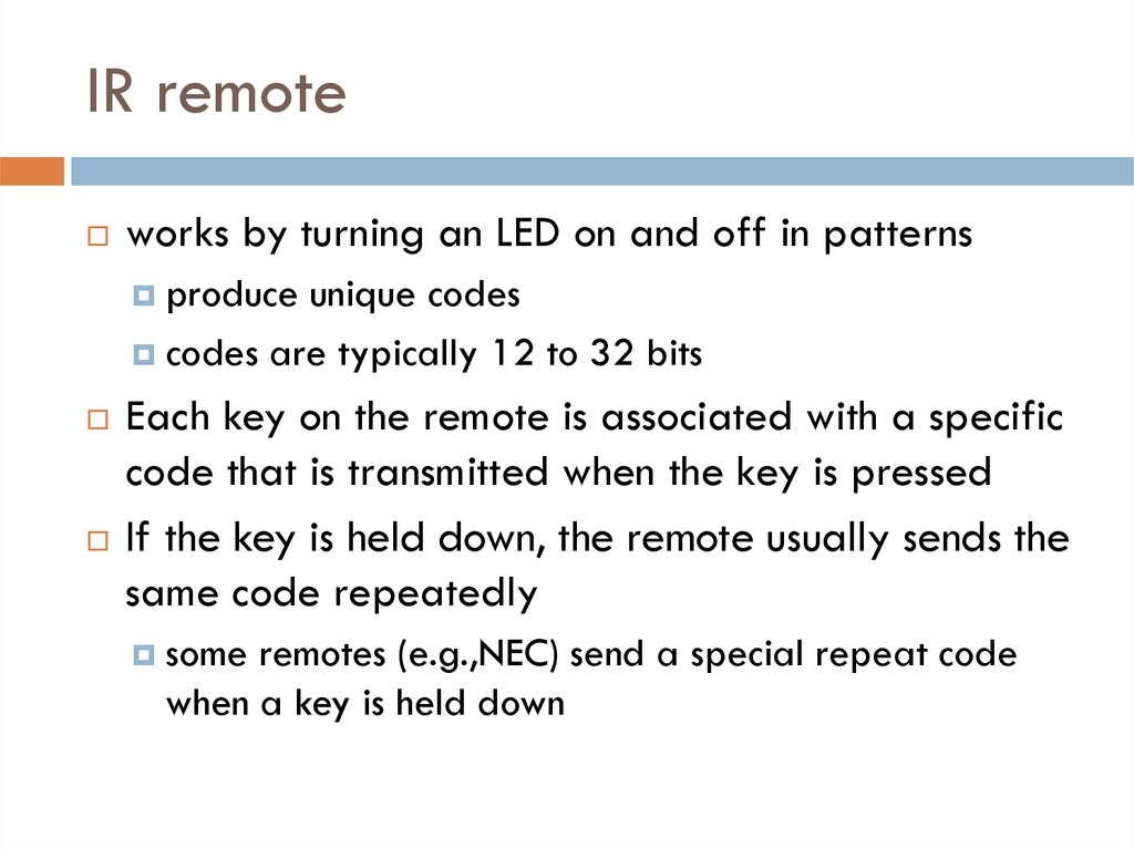 Remotely Controlling Devices - презентация онлайн
