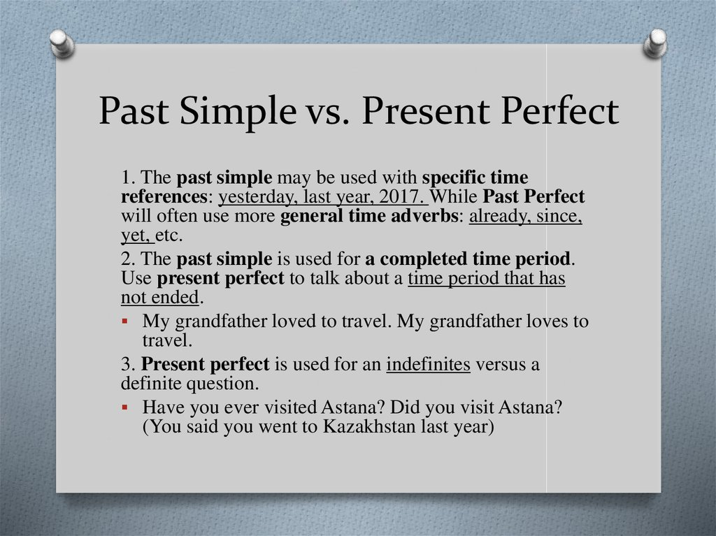 Quiz: 'Past Simple & Present Perfect' - Online Language ...