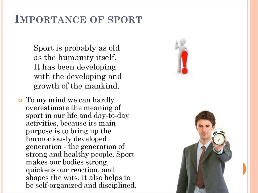 essays on importance of sports in life The importance of sports - think of better essays: brazil sports - an important part of brazilian participate in a sport later on in his/her life.