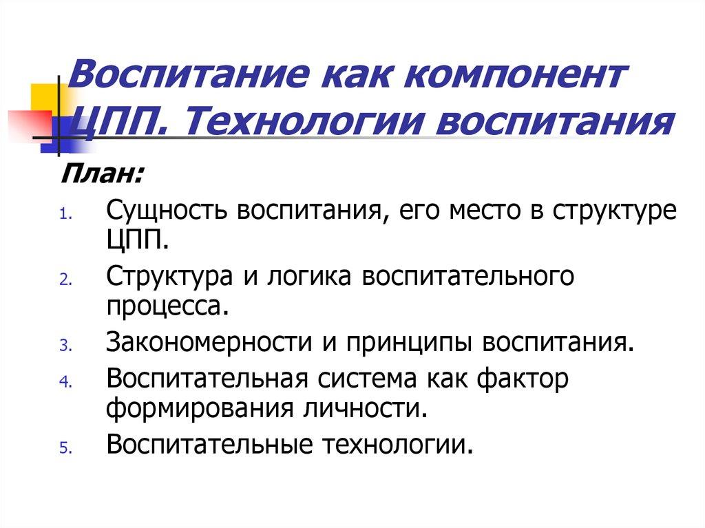 Теория воспитания сидоров с. В. Теоретическая педагогика.