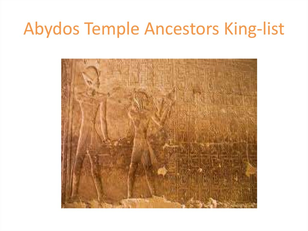 Abydos Temple Ancestors King-list