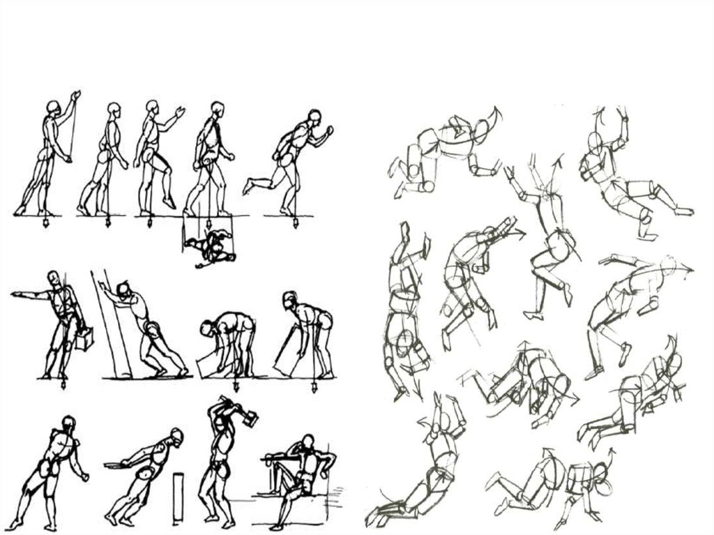 Картинки нарисовать человека в движении