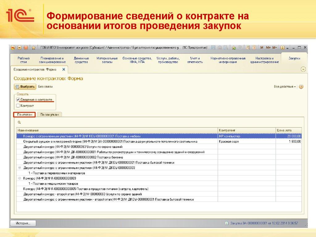 Программа 1С Бухгалтерия Государственного Учреждения