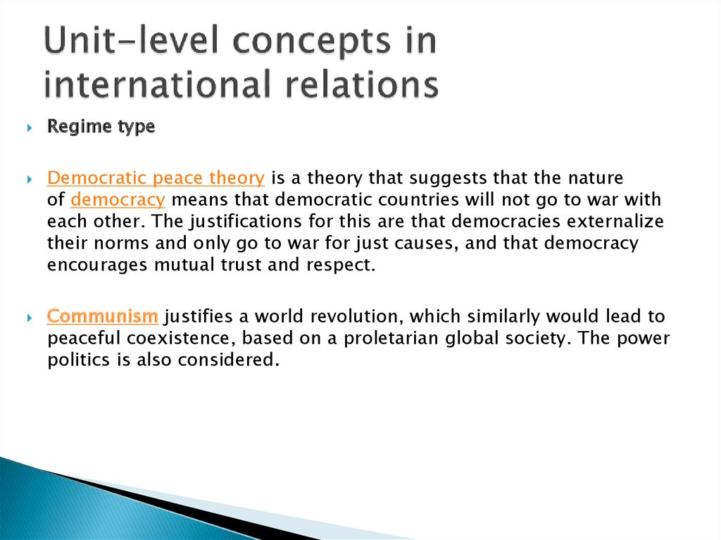 Unit-level concepts in international relations