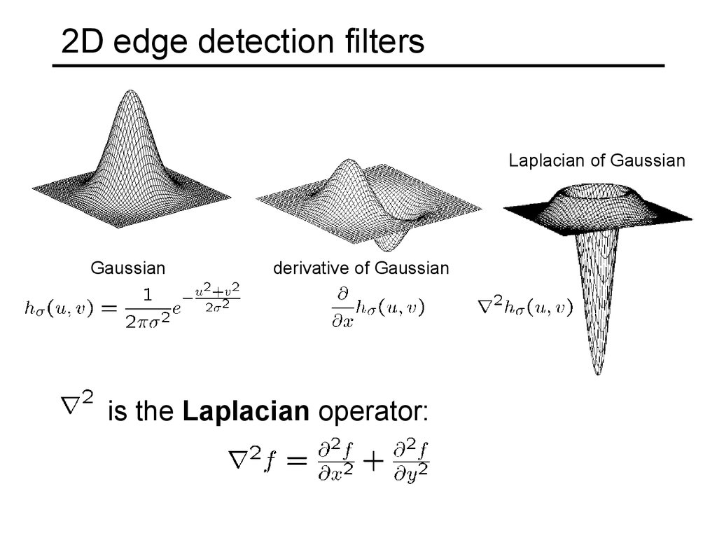 2D edge detection filters
