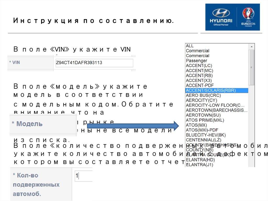 Инструкции по составлению отчета