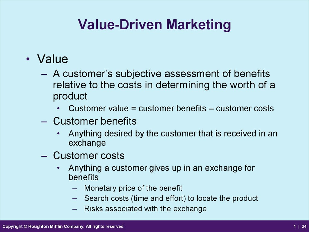 Value-Driven Marketing