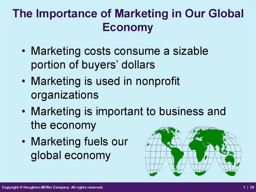 The Importance of Marketing in Our Global Economy
