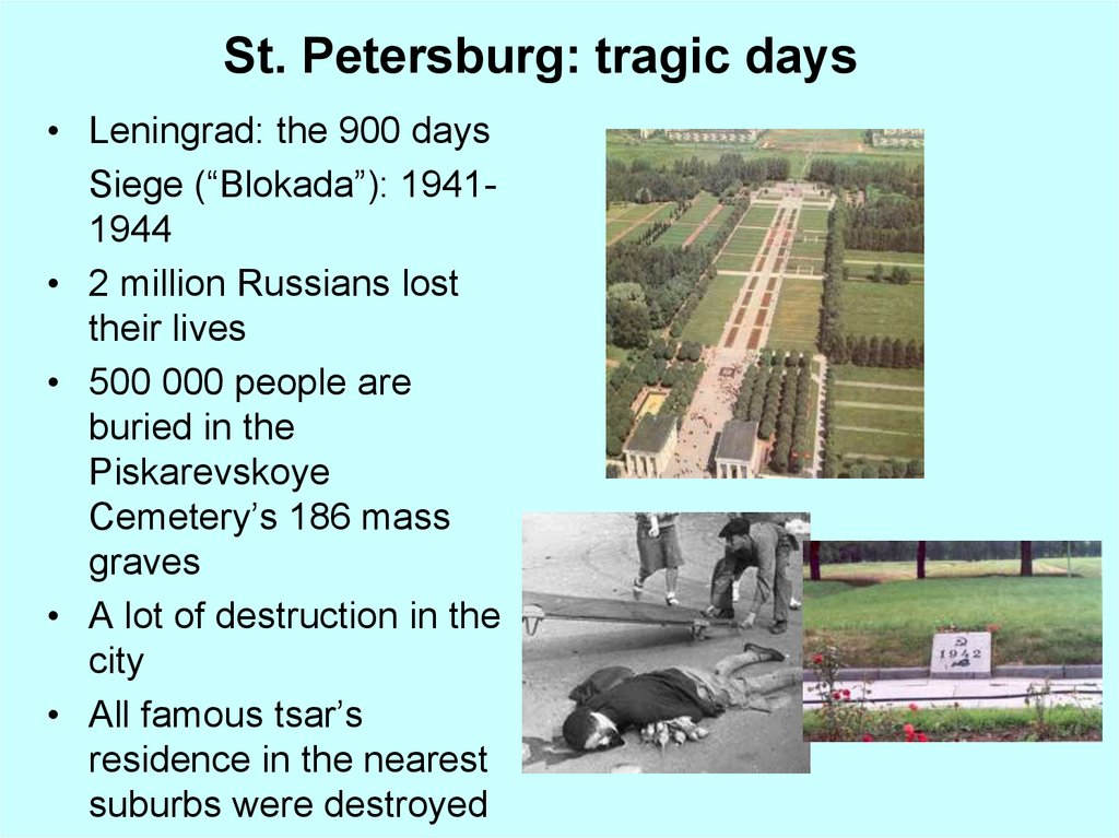 St. Petersburg: tragic days