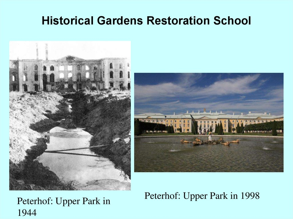 Historical Gardens Restoration School