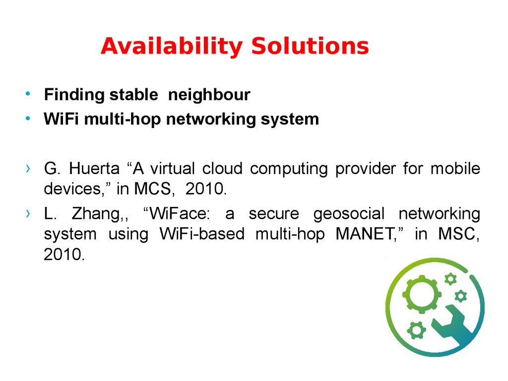 Availability Solutions