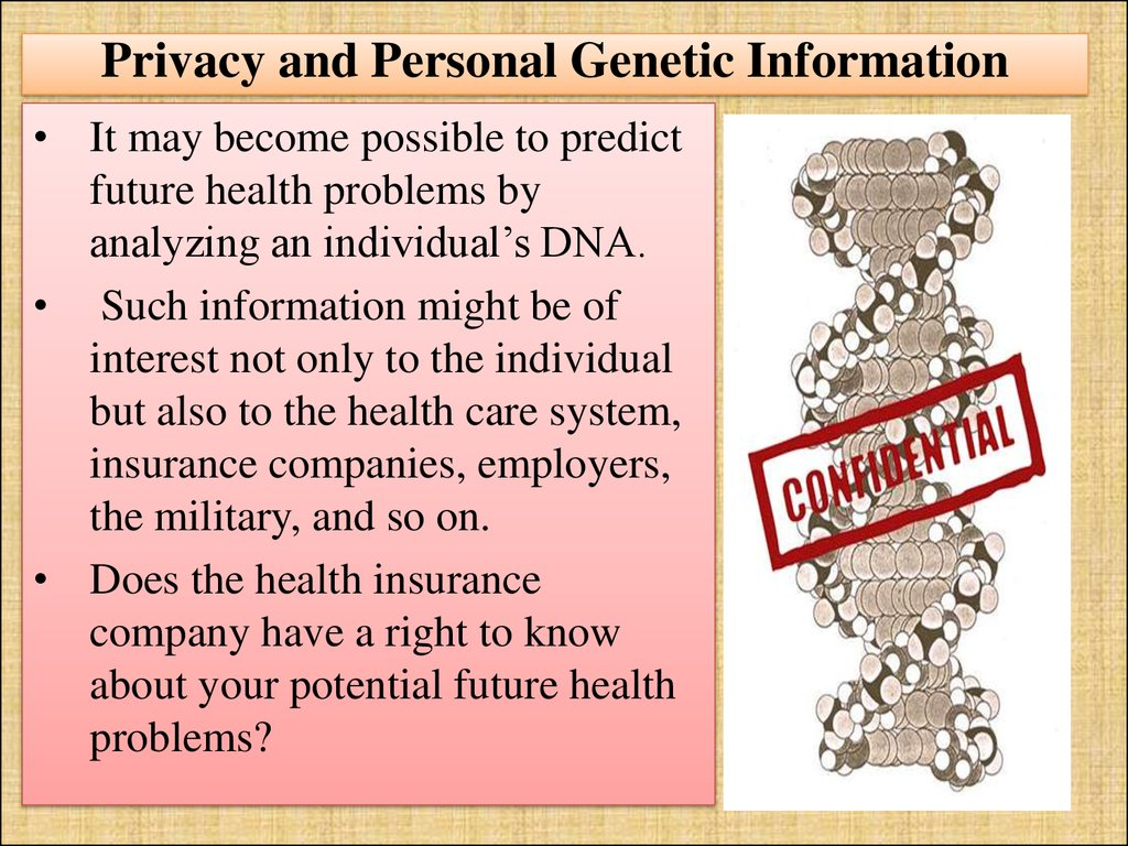 Privacy and Personal Genetic Information