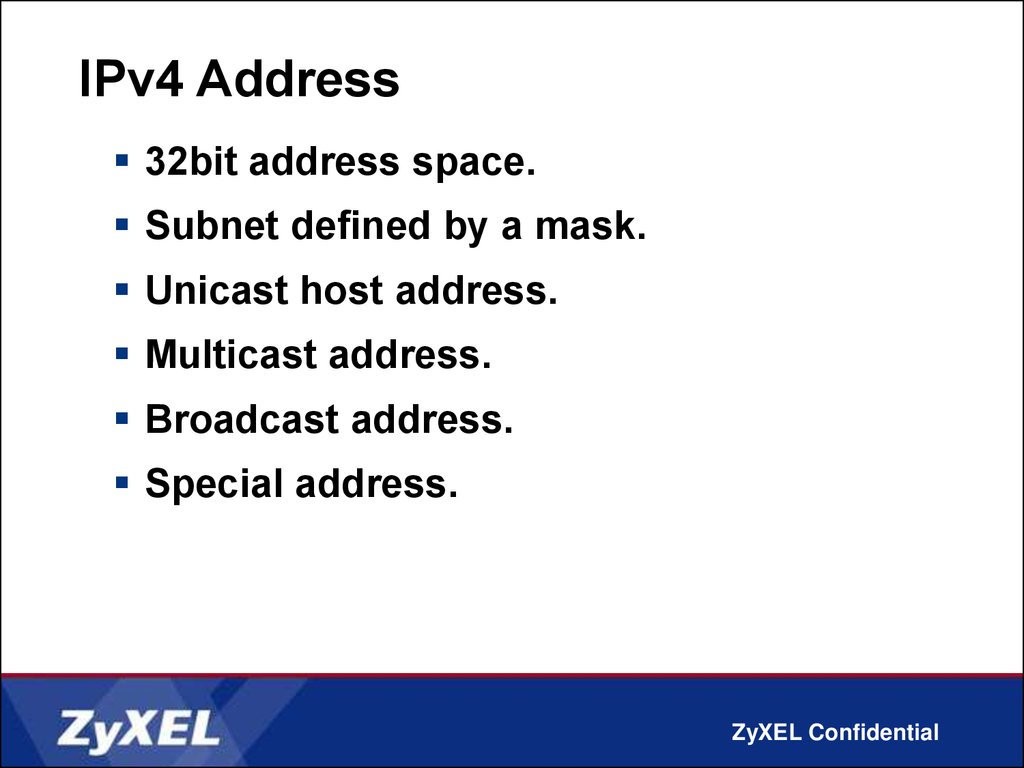 IPV6 Addressing - online presentation