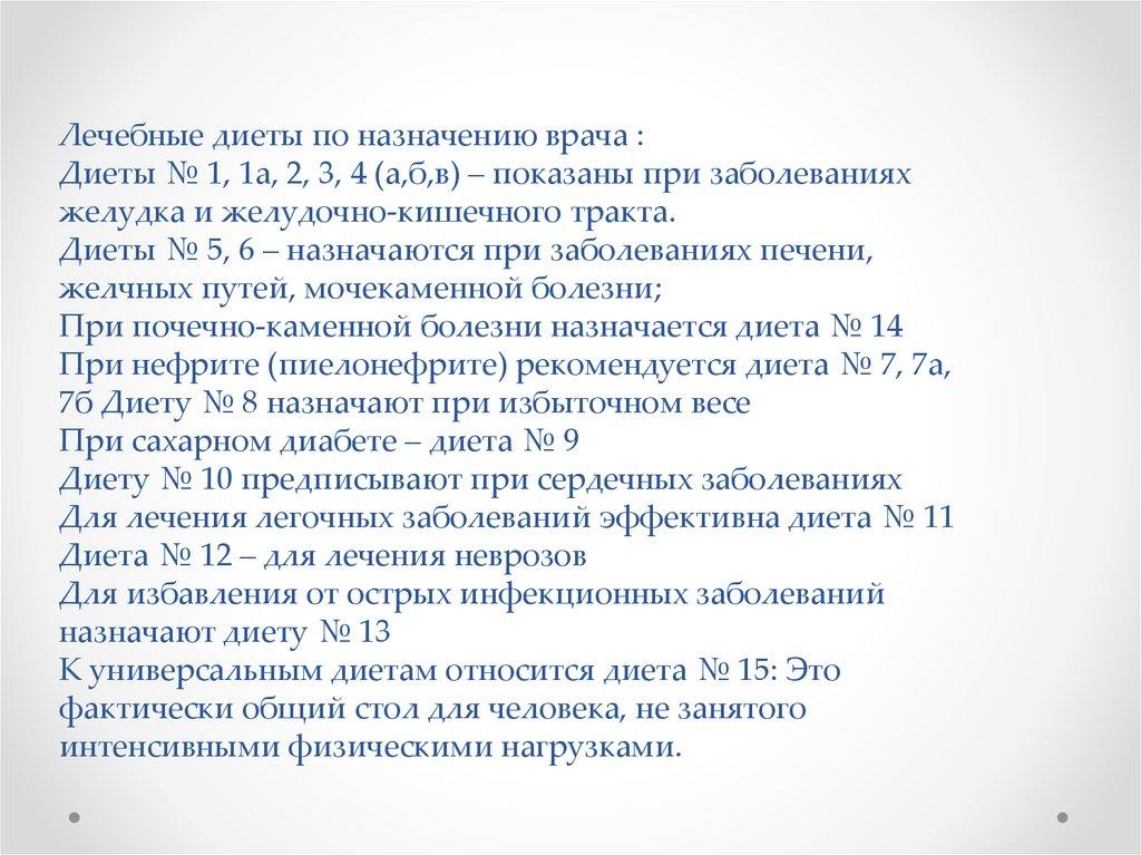 Диета No 1 И No 16. Лечебные столы (диеты) № 1-15 по Певзнеру: таблицы продуктов и режим питания