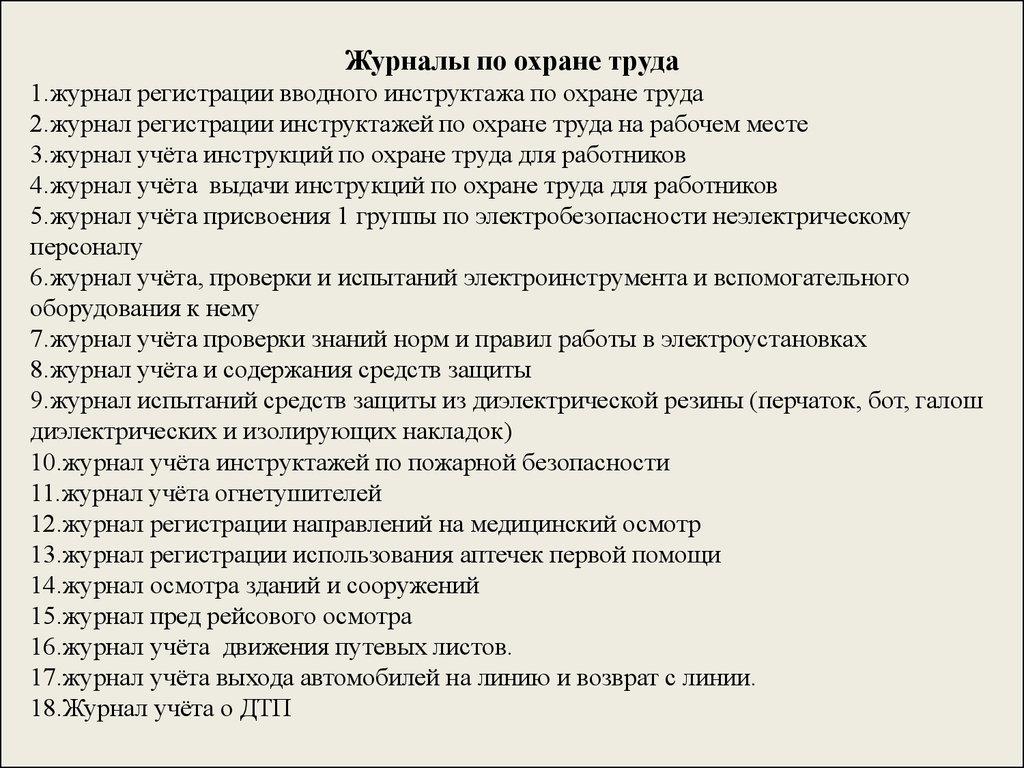 Перечень журналов по от
