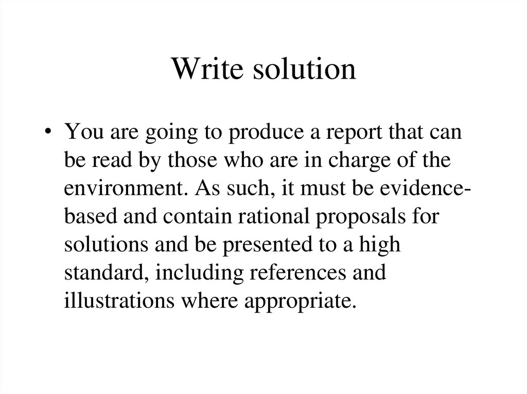 Write solution