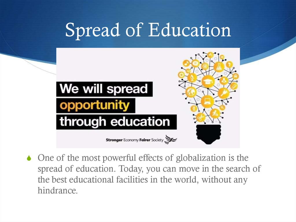 Spread of Education