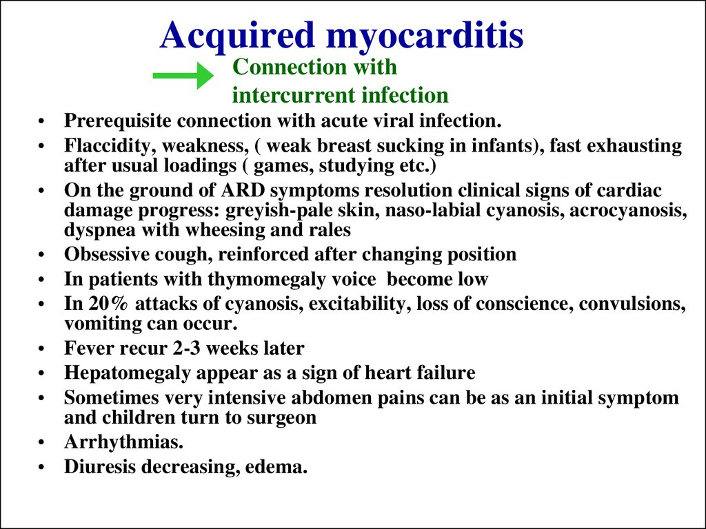 Acquired myocarditis