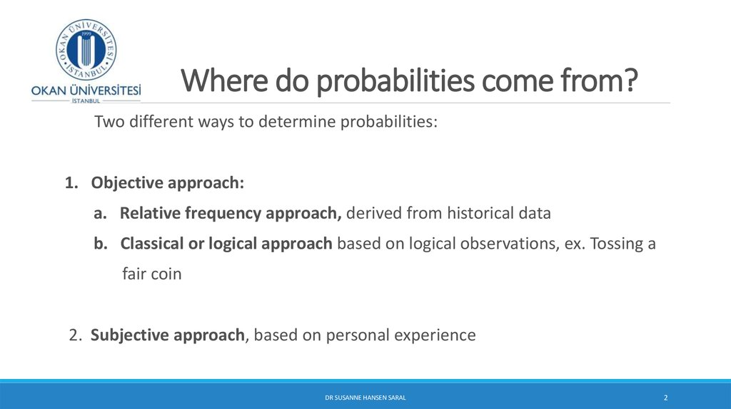 Where do probabilities come from?