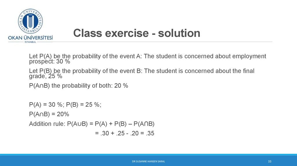 Class exercise - solution
