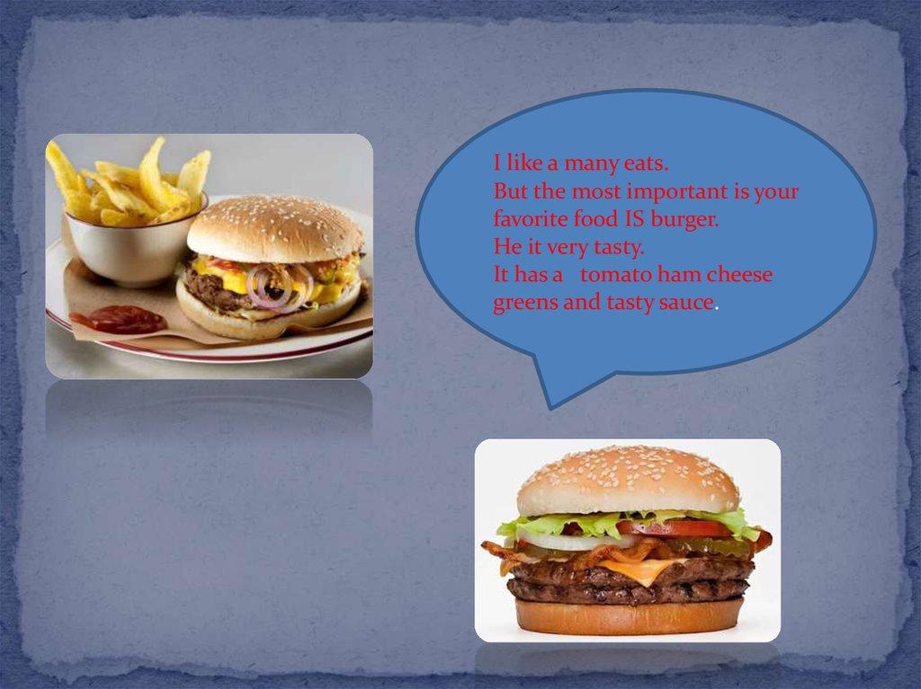 My favourite food - online presentation