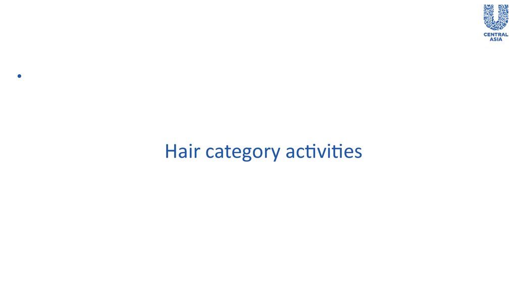 Hair category activities