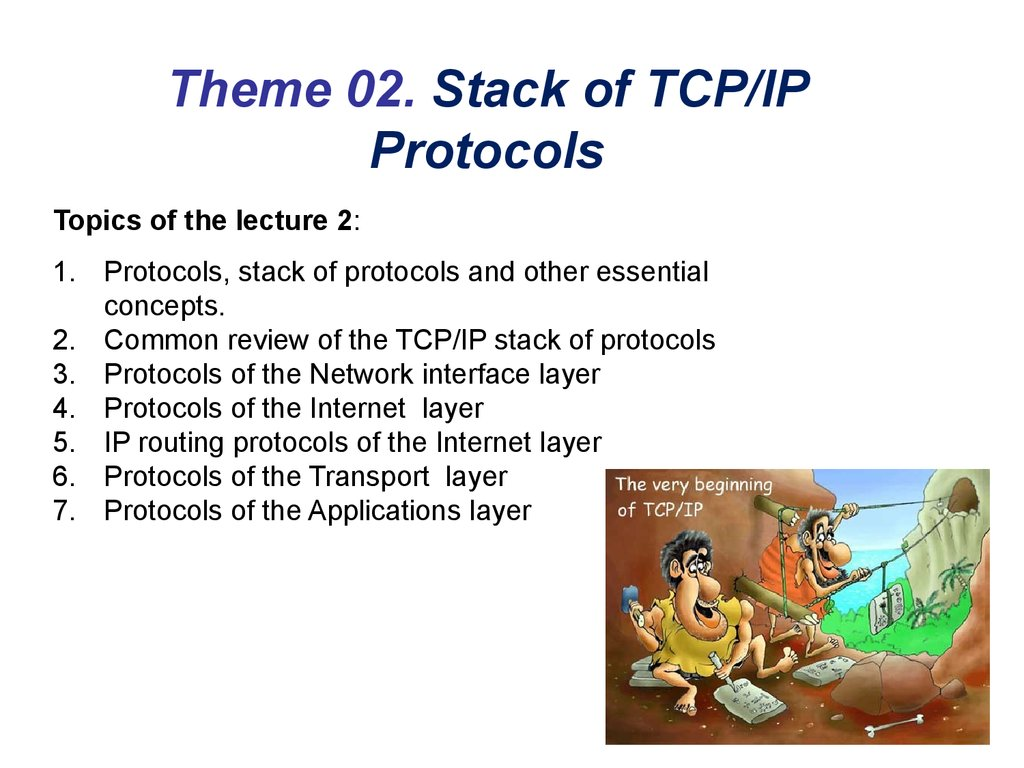 Theme 02. Stack of TCP/IP Protocols