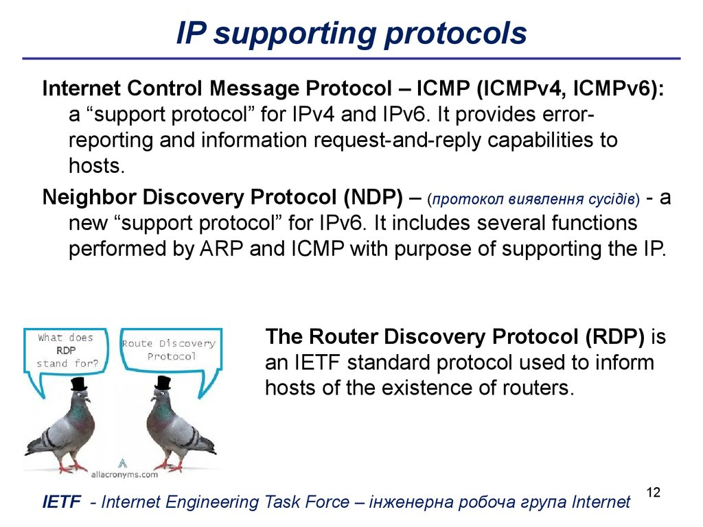 IP supporting protocols