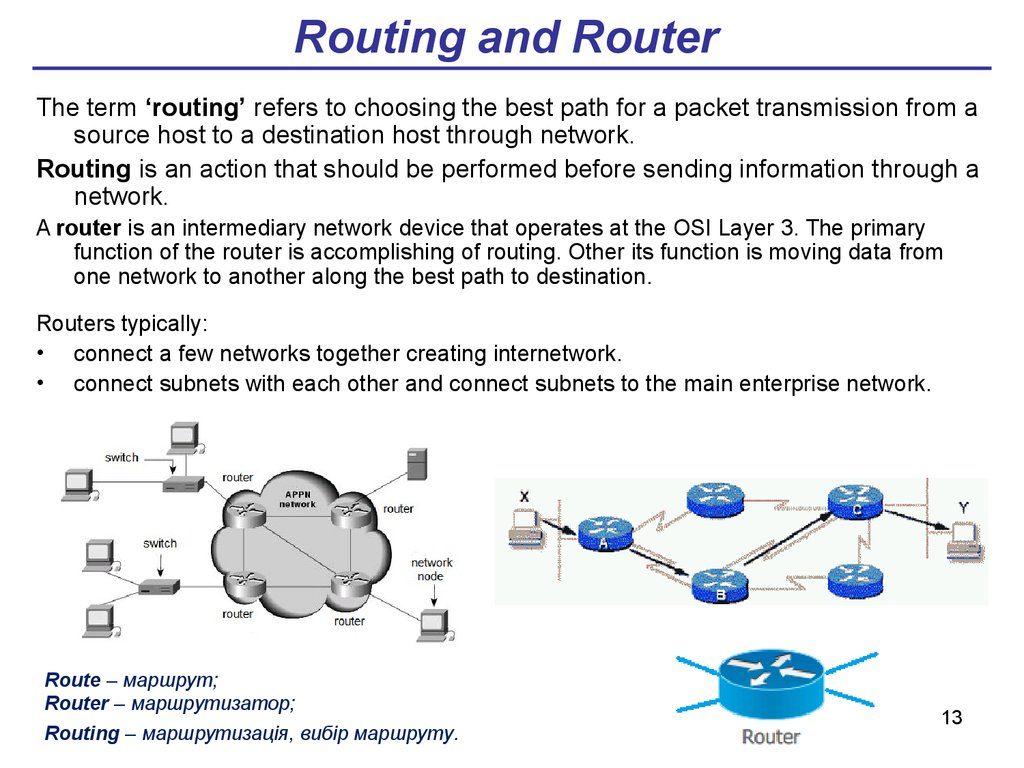 Routing and Router