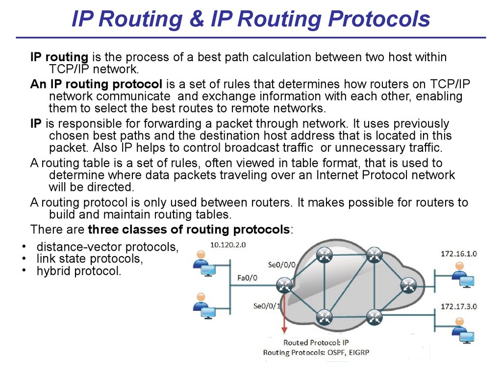 IP Routing & IP Routing Protocols