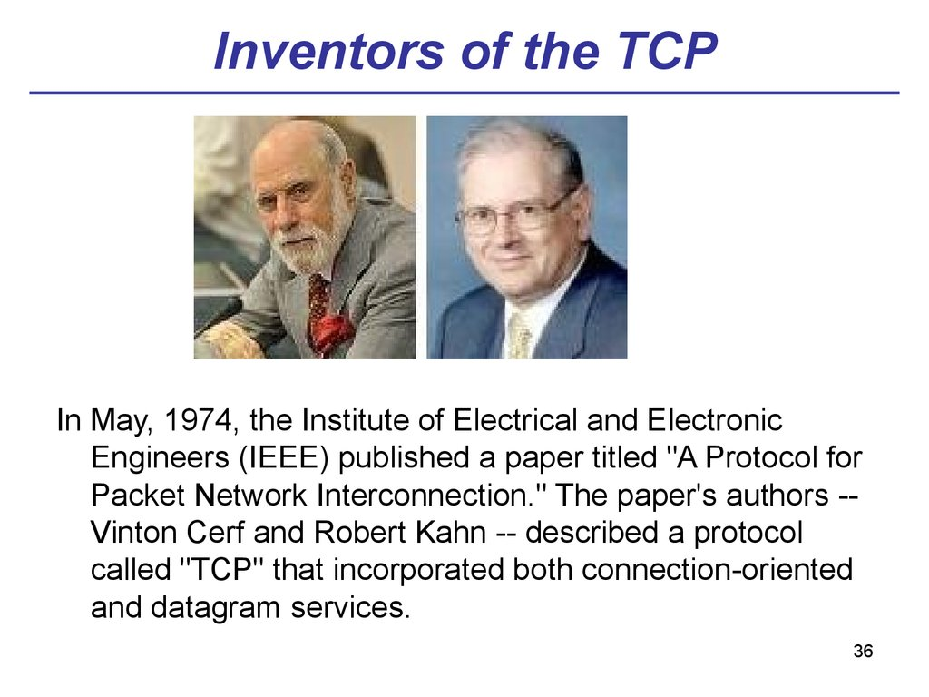 Inventors of the TCP