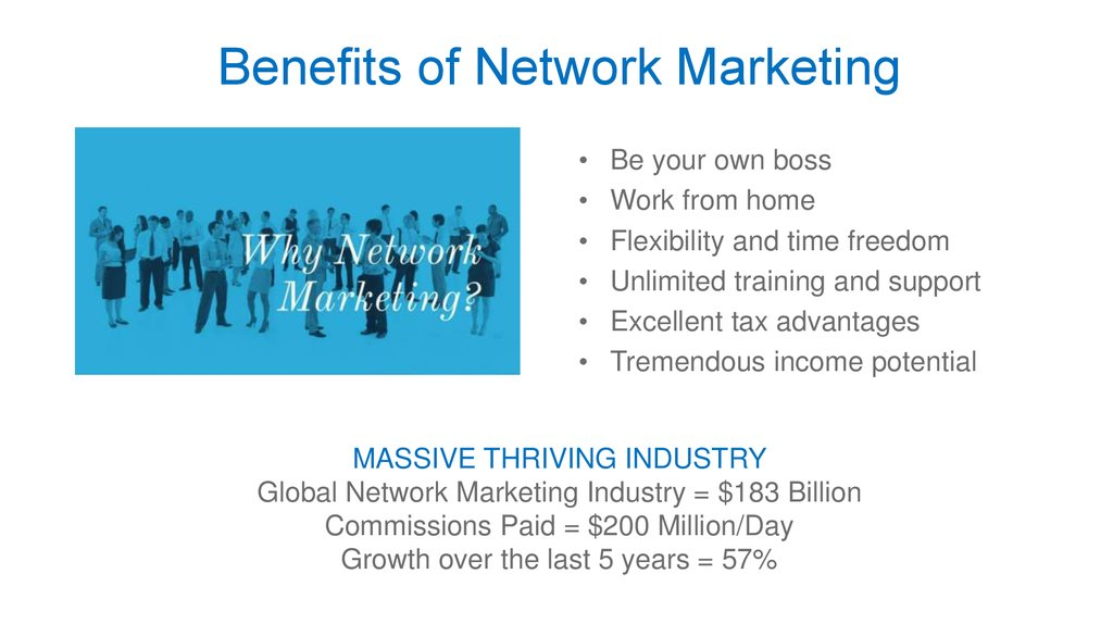 Benefits of Network Marketing