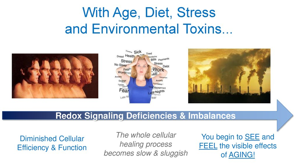 With Age, Diet, Stress and Environmental Toxins...