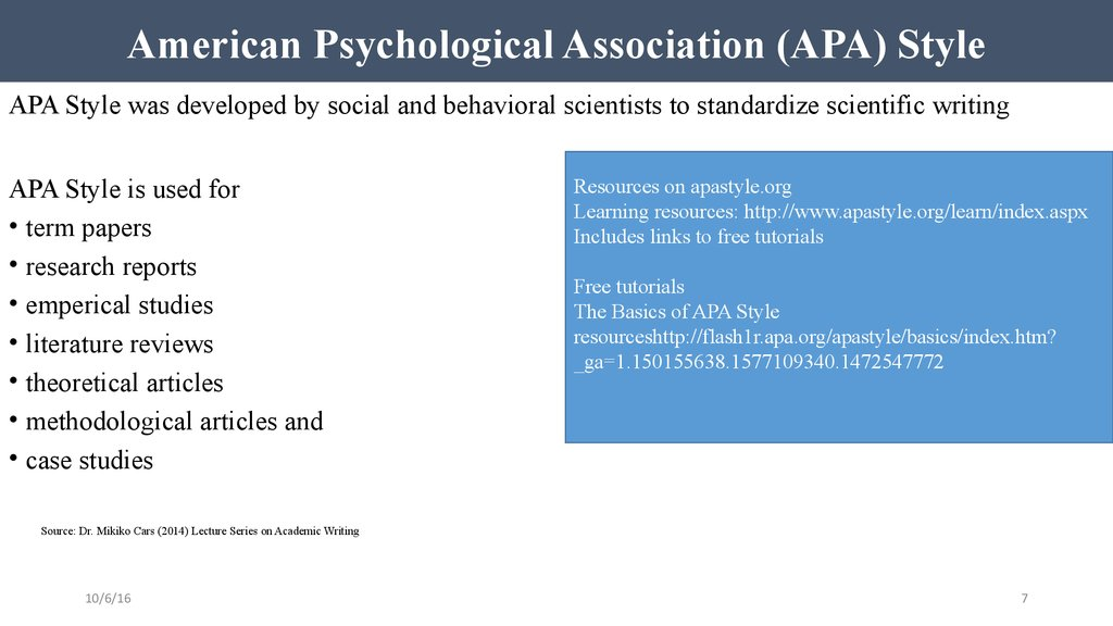 American Psychological Association (APA) Style