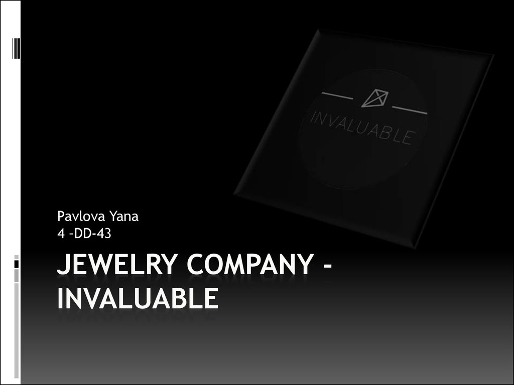 Jewelry Company -INVALUABLE