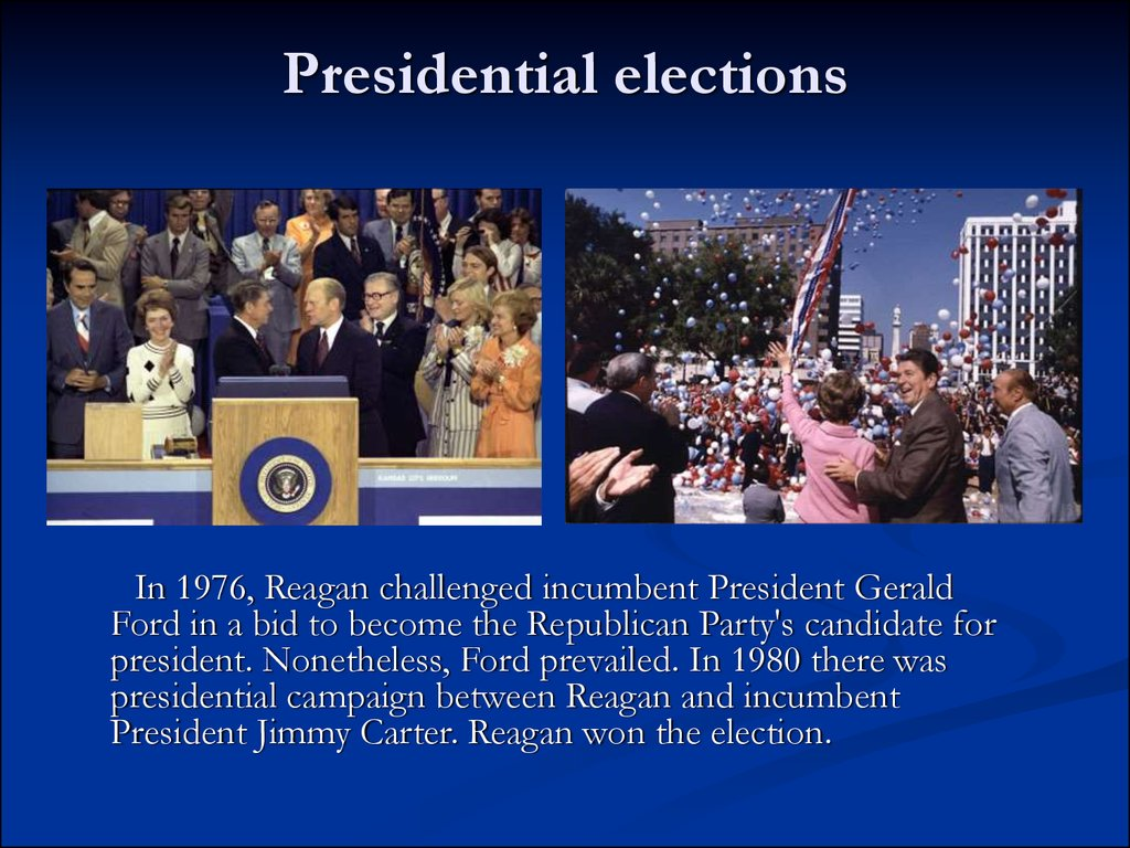 why were the presidencies of gerald