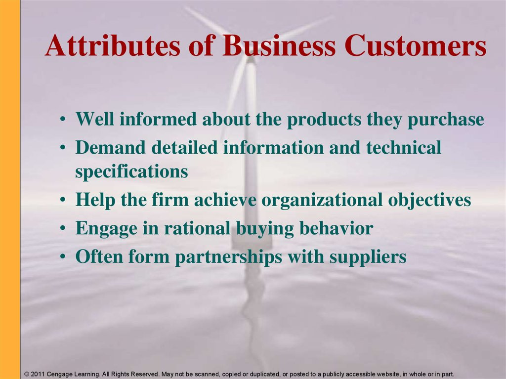 Attributes of Business Customers